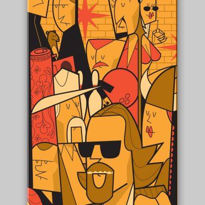 Dettagli 2 Ale Giorgini - The Big Lebowski Skateboard