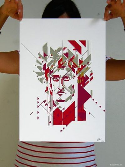 No Curves - The Supreme Poet - Screen print