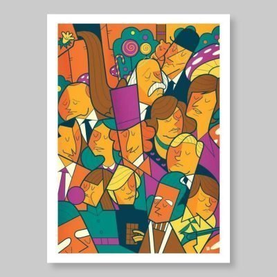 Ale Giorgini – Willy Wonka – print