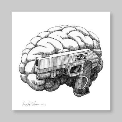 Zed1 – Cervello- serigrafia